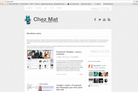 Design for Chez-mat.fr